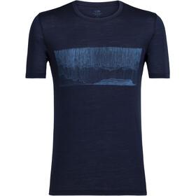 Icebreaker M's Tech Lite Hard Rain SS Crewe Shirt midnight navy